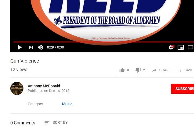 """A now-deleted """"mock video"""" ad that presented itself as an official Reed campaign video. - SCREENSHOT VIA YOUTUBE"""