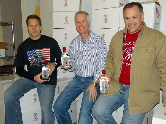St. Louis Distillery partners Steve Herberholt, Bill Schroer and Greg Deters. | Complements of St. Louis Distillery