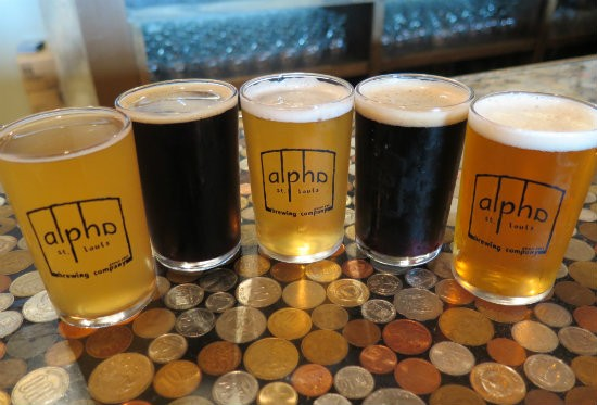 Flight from Alpha Brewing - PHOTOS BY PETE DULIN