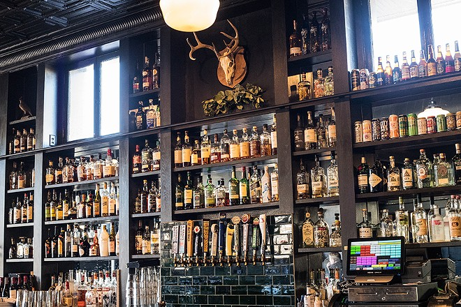 The bar is a great place to grab a drink ... if you can get a seat. - MABEL SUEN
