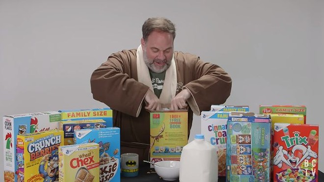 Ed Herman, an attorney at Brown and Crouppen, digs into the law of cereal. - SCREENSHOT VIA YOUTUBE