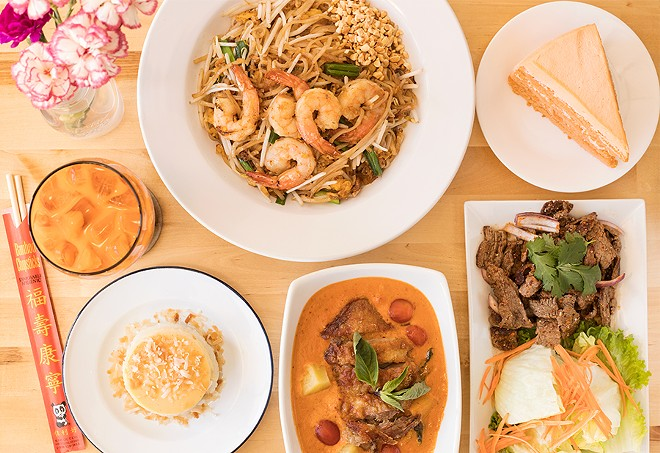 Thai Table offers terrific renditions of everything from pad Thai to sticky rice with Thai custard. - MABEL SUEN