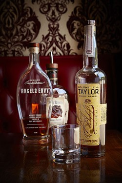 A selection of whiskeys and bourbons. - STEVE TRUESDELL