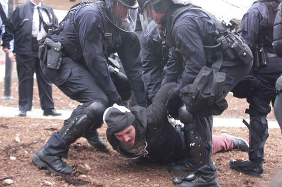Protesters arrested in the past year are now receiving surprise summonses from St. Louis County. - DANNY WICENTOWSKI