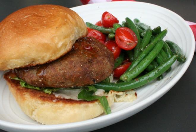 Falafel Burger at Salt+Smoke - PHOTO BY JOHNNY FUGITT