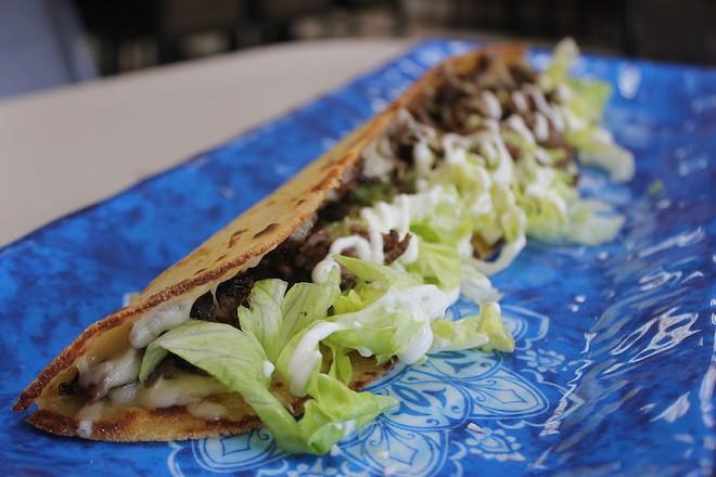 Sol Azteca's unconventional quesadilla. - SARAH FENSKE
