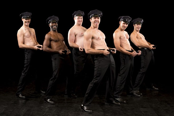 The Full Monty is at the Robert G. Reim Theatre in Kirkwood through October 4. - PHOTO BY PETER WOCHNIAK