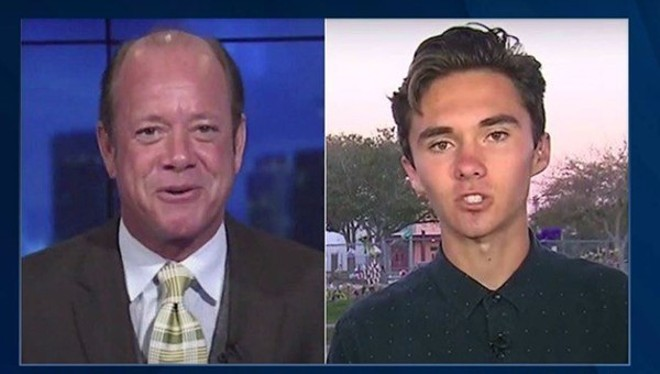Jamie Allman, left, with nemesis David Hogg. - SCREENSHOT VIA YOUTUBE