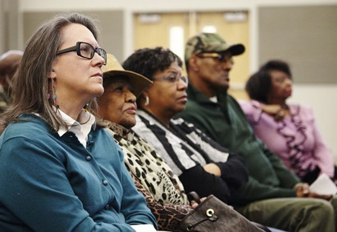 The audience at a Ferguson Commission meeting. - STEVE TRUESDELL