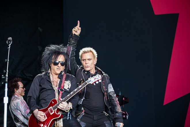 Steve Stevens and Billy Idol on the Bud Light stage on Sunday. - ROBERT ROHE