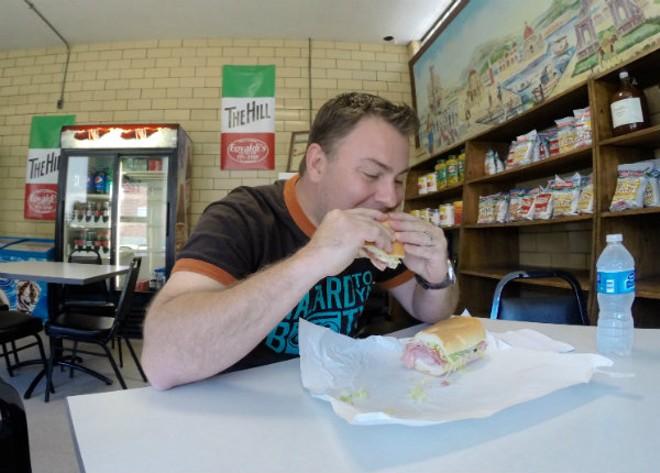 Justin Bruegenhemke is the king of the Hill — or at least its sandwich offerings. - PHOTO COURTESY OF JUSTIN BRUEGENHEMKE