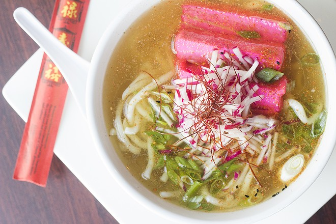 Noodle bowls at Lucky Buddha are customizable. - MABEL SUEN