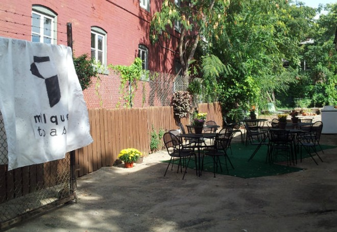 The patio is a great place to enjoy a sunny fall morning. - PHOTO BY KATIE INEICH