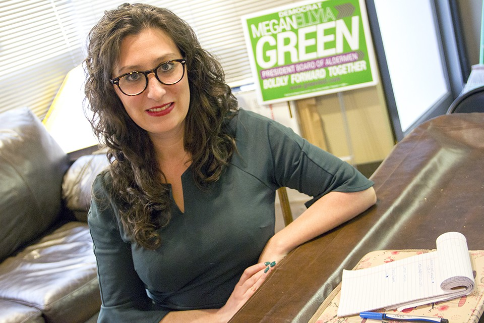 "Alderwoman Megan Green: ""When I'm asked, I show up. Even when I'm not asked, I show up."" - DANNY WICENTOWSKI"