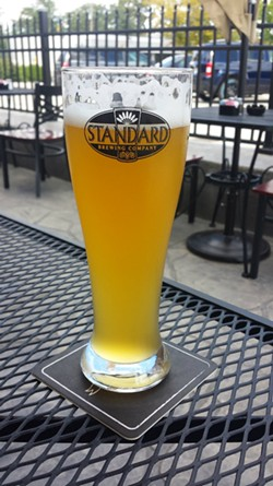 Standard offers a Hefeweizen and an IPA on tap. - PHOTO BY SAMANTHA DEVER