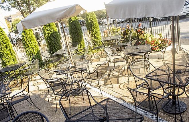 Howards' patio. - MABEL SUEN