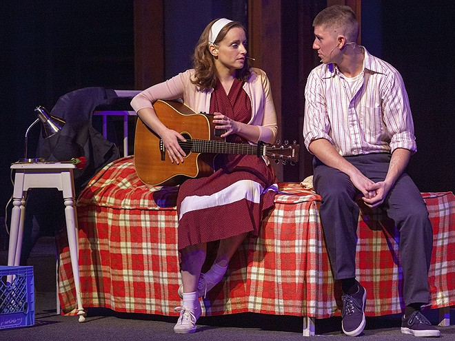 Just one night together before it's over. Shannon Cothran as Rose Fenny and Brendan Ochs as Eddie Birdlace. - JOHN LAMB
