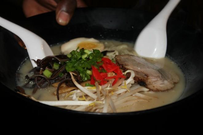 A bowl of steaming hot ramen at Robata. - CHERYL BAEHR