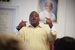 Pastor James Thomas of Bethel Non Denominational Church. - STEVE TRUESDELL