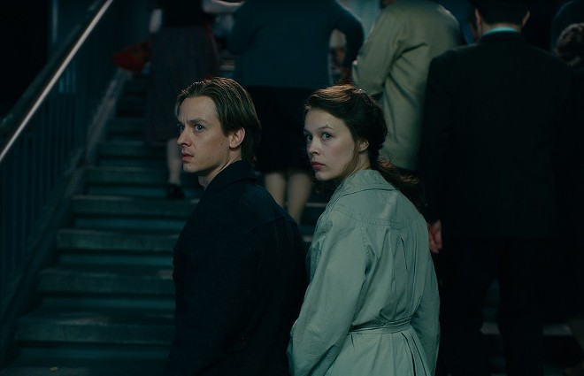 Tom Schilling as Kurt Barnert, Paula Beer as Ellie Seeband. - CALEB DESCHANEL, COURTESY OF SONY PICTURES CLASSICS