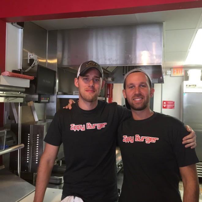Billy Evans and Josh Shulman of Zippy Burger - PHOTO BY SARAH FENSKE