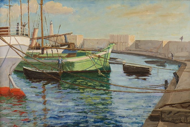 A painting by the former British prime minister now on display at the Mildred Lane Kemper Art Museum at Wash. U. - ART BY SIR WINSTON CHURCHILL