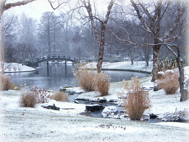The Missouri Botanical Garden with a fine dusting of snow. - PHOTO COURTESY OF FLICKR/MELISSA