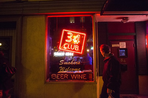 One of the 34 Club's many quirks is that it's accessible through a front door as well as a back door in the alley. - ERIC FRAZIER