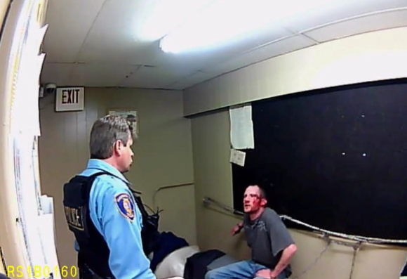 """Yancy Carden, right, urged an Illinois cop to """"come on and tase me, bitch!"""" - VIA BND"""