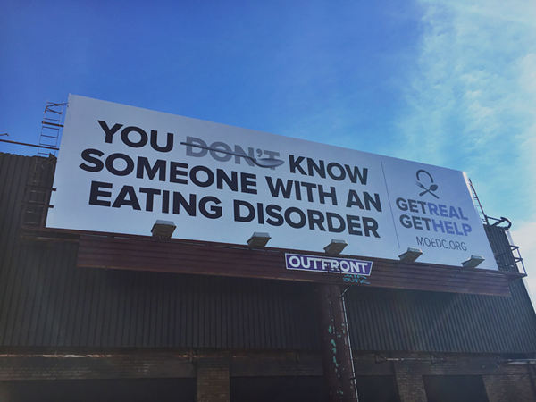 A billboard on I-64 eastbound near the Grand exit. - PHOTO BY JOSHUA K. CONNELLY