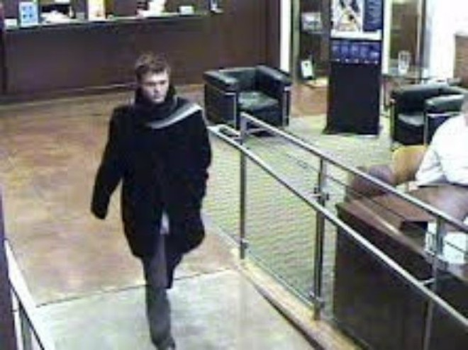 Police identified this stylish bank robber as Mitchell Montgomery. - IMAGE VIA ST. LOUIS METRO POLICE
