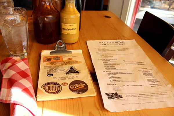 Salt and Smoke's menu. - PHOTO BY LAUREN MILFORD
