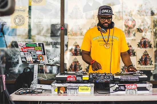 2015 RFT Music Award winner Nappy DJ Needles performs on Christmas night as part of Gift Rappin', a night of old-school hip-hop at Blank Space.