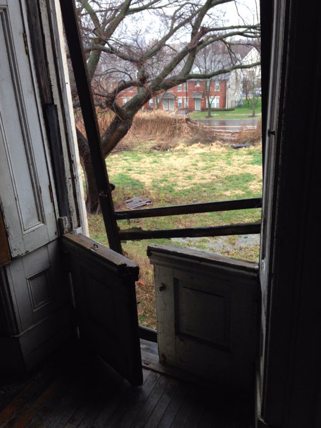 A view from the Clemens House looking outward. - COURTESY OF BILL HANNEGAN