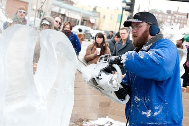 The Loop Ice Carnival. Fun! - PHOTO BY JON GITCHOFF
