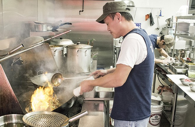 In the kitchen at Tai Ke. - PHOTO BY MABEL SUEN