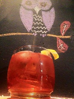 THE MATT THE CAT COCKTAIL AT THE NIGHT OWL BY TREE HOUSE | TYLER KRIGS, BARTENDER