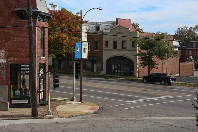 Gravois Avenue in Benton Park West, which skirts the southeast side of the artery. - PHOTO COURTESY OF FLICKR/PAUL SABLEMAN