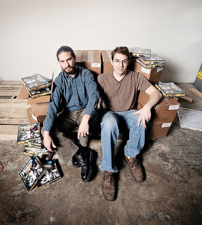 Christopher Badell and Paul Bender of Greater Than Games - PHOTO BY JENNIFER SILVERBERG