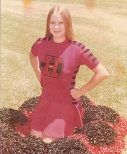 In the late seventies, Judy made cheereleader at Houston High School in Texas County. - PHOTO COURTESY OF THE SPENCERS