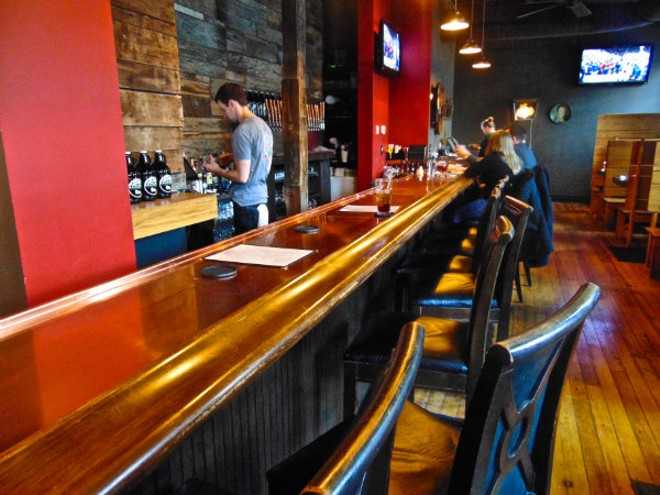 The bar at PaPPo's Pizzeria. - EMILY HIGGINBOTHAM