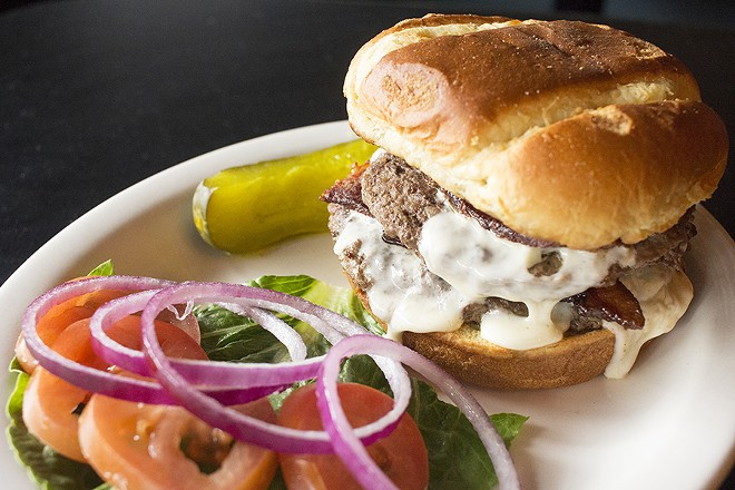 The Brickyard Tavern's burger -- a rare success. - PHOTO BY MABEL SUEN