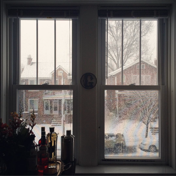 Here's a view of the snow in Dogtown from the inside looking out. After all, if you don't get a picturesque window shot, did it even happen? - PHOTO COURTESY OF INSTAGRAM / KATEHEARTSCAKE