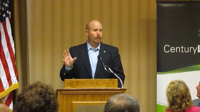 Rep. Robert Ross, speaking before the Waynesville-St. Robert Chamber of Commerce in 2015. - VIA YOUTUBE