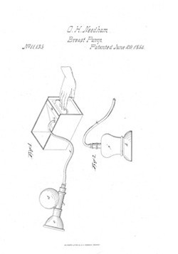 The original 1854 drawings for a breast pump look remarkably like the ones we use today. - COURTESY OF BABYATION