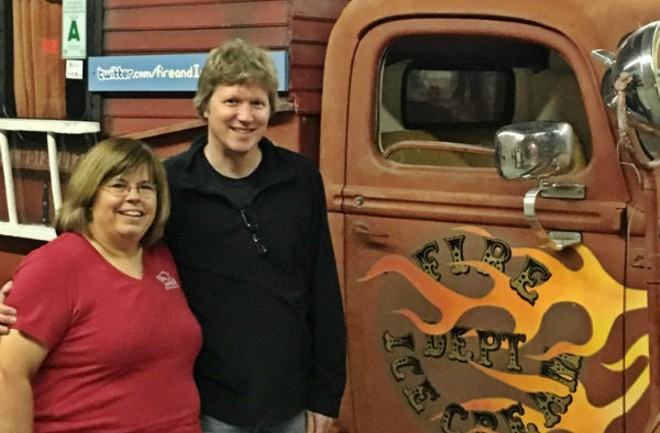 Beckie Jacobs, Matt Armstrong and the catalyst of their new partnership. - PHOTO COURTESY OF BECKIE JACOBS