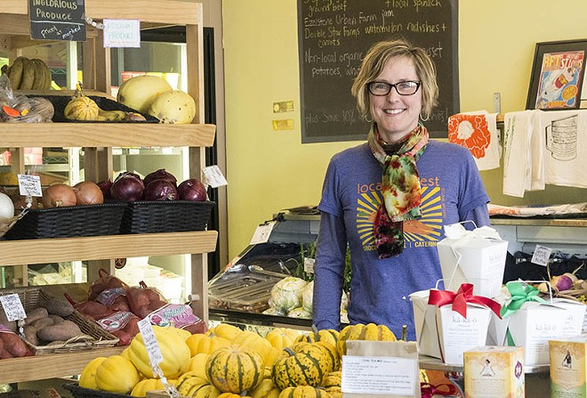 Maddie Earnest, co-founder of Local Harvest Grocery - PHOTO BY MABEL SUEN