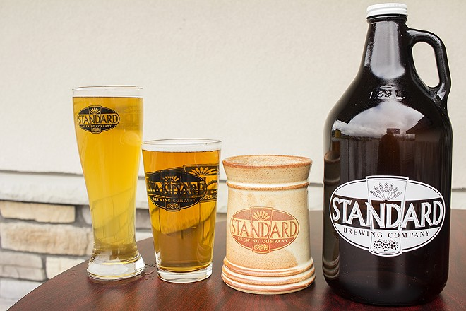 Beer on offer at Standard Brewing Company. - PHOTO BY MABEL SUEN