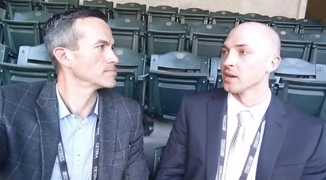 Tyler Dunnington (right) left baseball because of the homophobia he encountered. - YOUTUBE