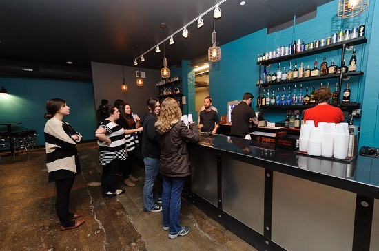 The bar at the Ready Room, a venue in the Grove at the center of a controversy between the mayor's office and the city's excise commissioner, who was fired March 4. - PHOTO BY JASON STOFF
